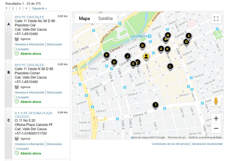 Buscador de oficinas de Western Union
