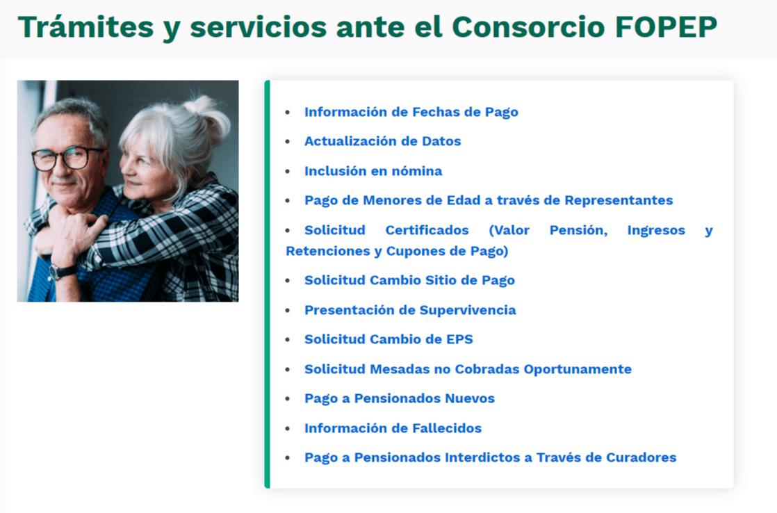 Consultas en línea en el FOPEP