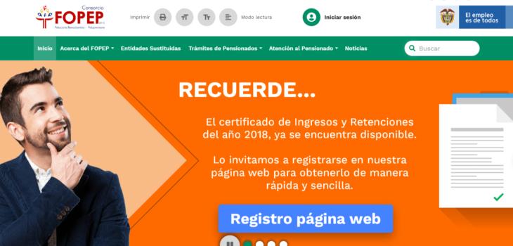 Fopep: Calendarios de pagos y consultas en línea 1