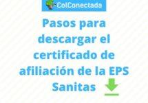 Cómo solicitar un certificado de afiliación en Sanitas