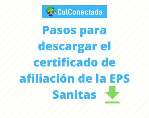 Solicitar certificado de afiliación en Sanitas