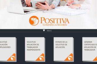 Positiva ARL: Servicios y consultas en línea - Teléfonos 2