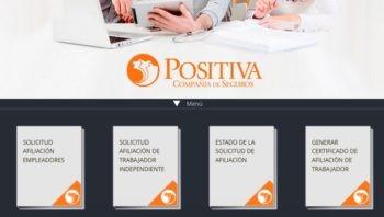 Positiva ARL: Servicios y consultas en línea - Teléfonos 5