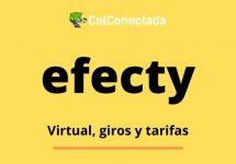Efecty: Tarifas y consulta de giros por Internet