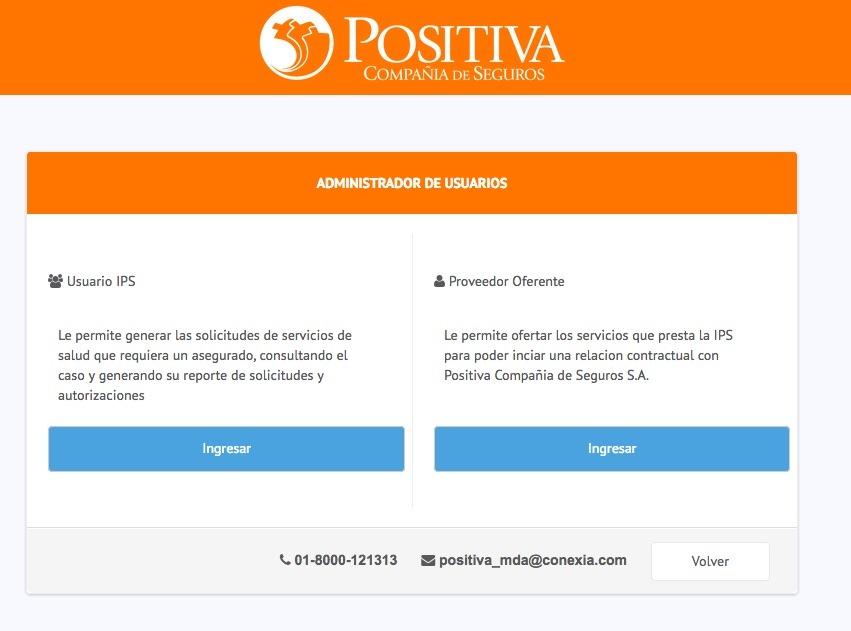 Positiva ARL: Servicios y consultas en línea - Teléfonos 1