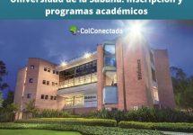 Universidad de la Sabana: Inscripción y programas académicos