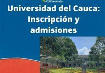 Universidad del Cauca: Inscripción y admisiones