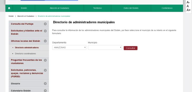 Buscar oficina por municipios