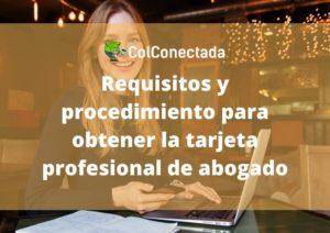 Tarjeta Profesional en Derecho