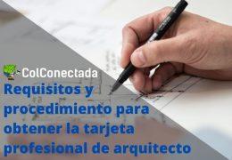 Tarjeta Profesional en Arquitectura