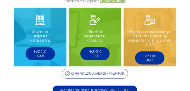ARL SURA: Cómo afiliarse y servicios que ofrecen 1