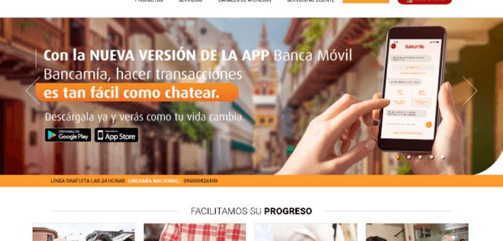 Bancamia: Servicios en línea y teléfonos 17