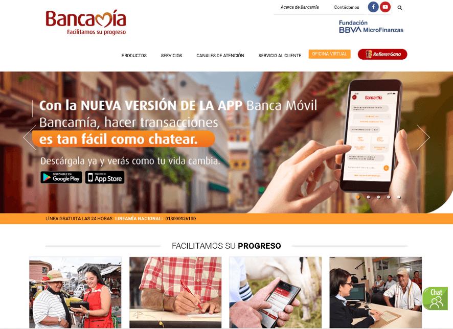 Bancamia: Servicios en línea y teléfonos 11