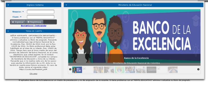 Cómo ser parte del Banco Nacional de la Excelencia 11