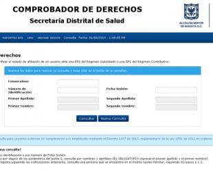 Comprobador de derechos: Verificar estado de afiliación a EPS
