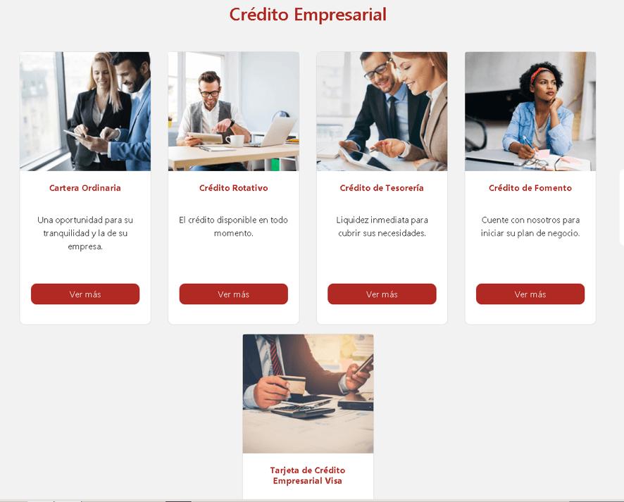 Tipos de créditos para empresas en Bancoomeva