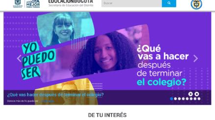 Secretaría de Educación de Bogotá: Trámites en línea 2