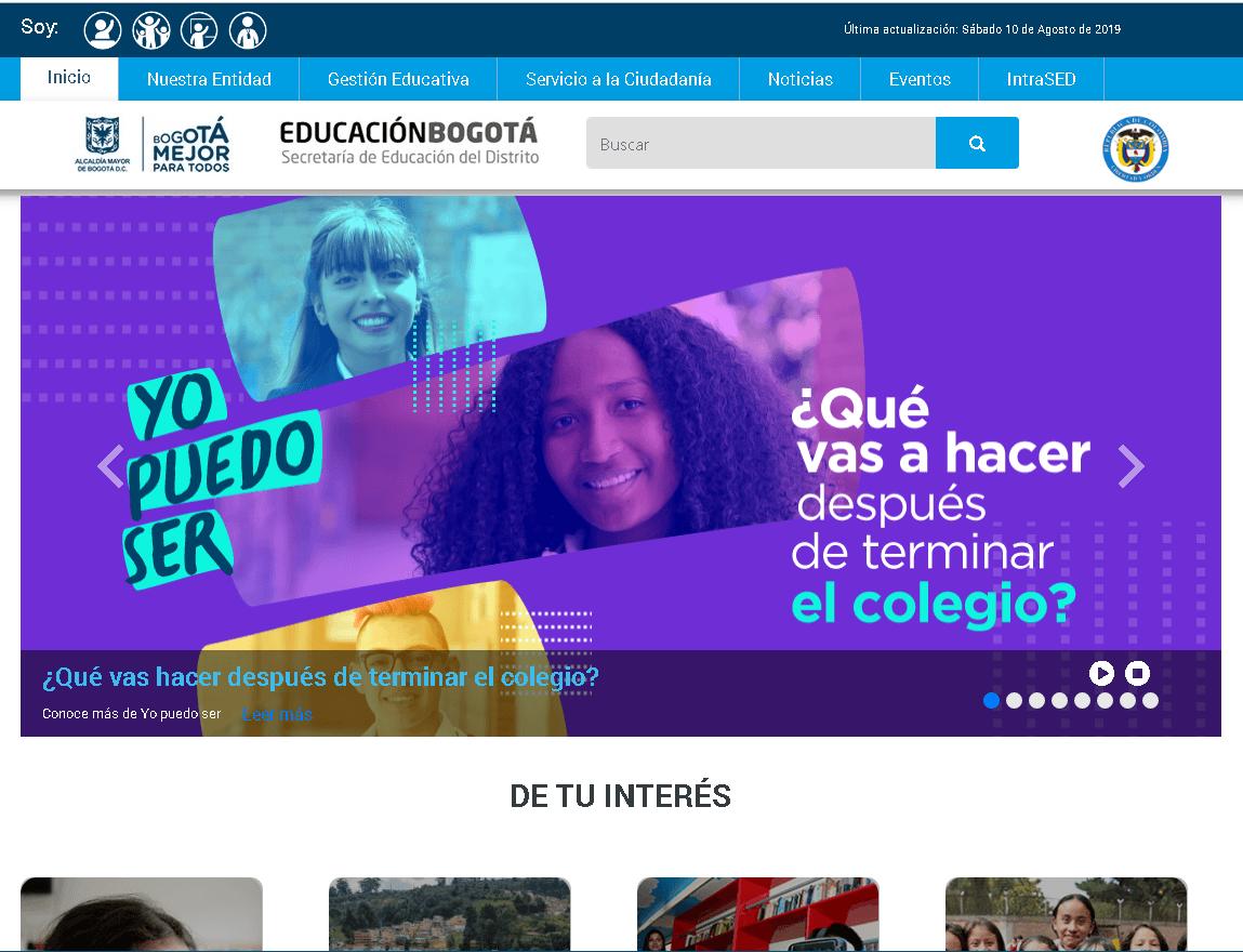 Secretaría de Educación de Bogotá: Trámites en línea 11