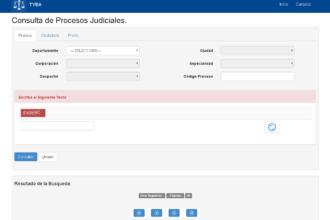 Formulario para consulta de procesos judiciales