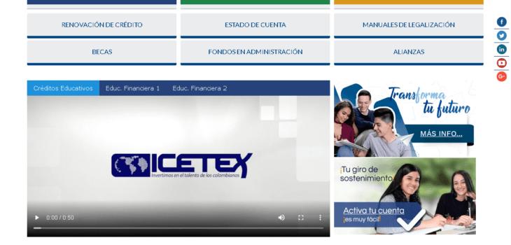 ICETEX: Consultar el estado de cuenta por Internet 1