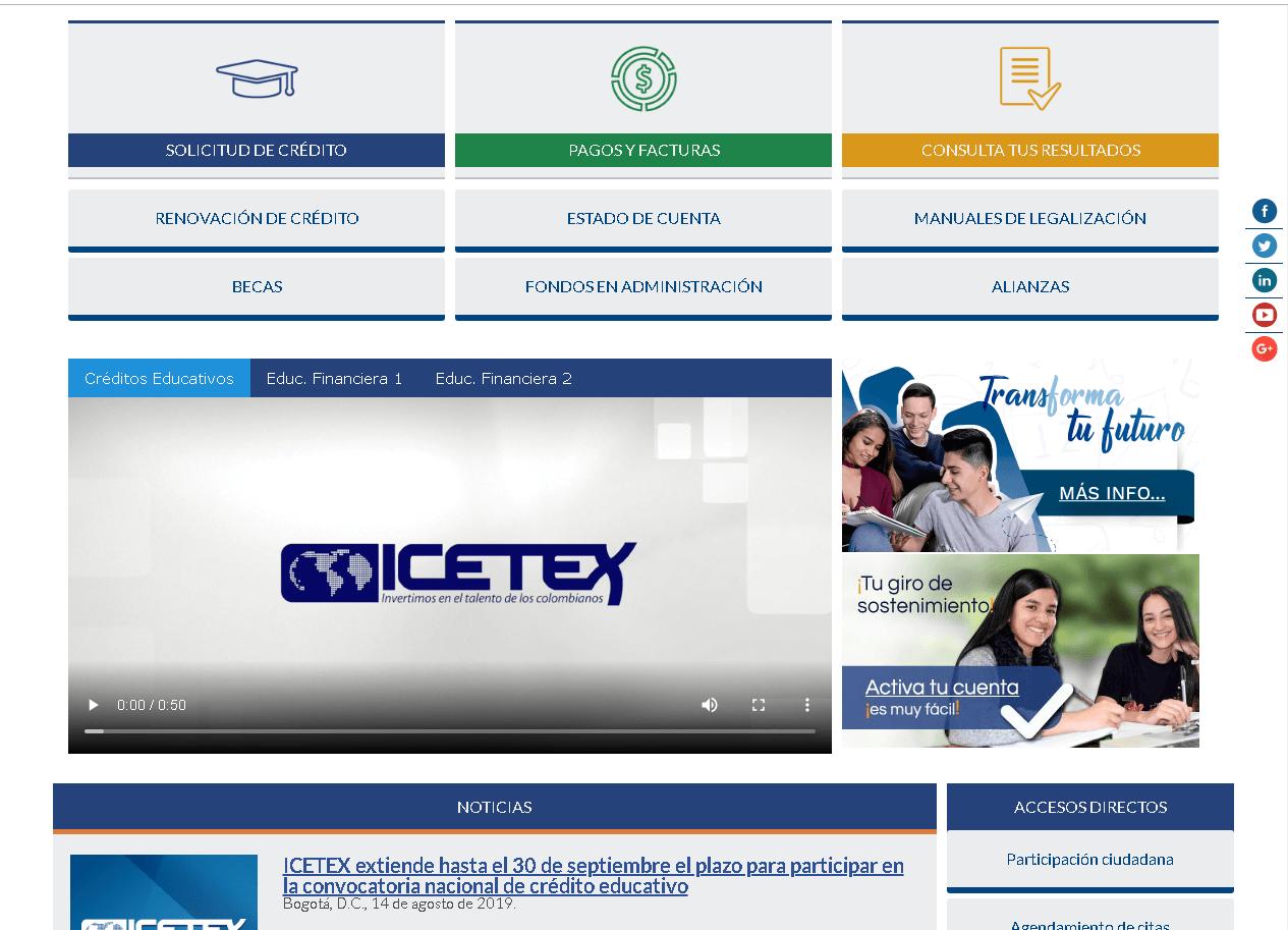 ICETEX: Consultar el estado de cuenta por Internet 7