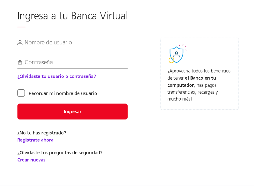 Ingresando a la plataforma virtual