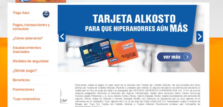 Tarjeta Alkosto: Tarifas, beneficios y consultas en línea 12