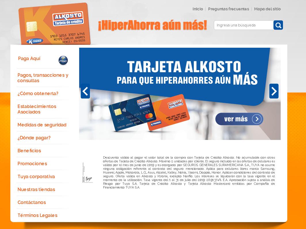 Tarjeta Alkosto: Tarifas, beneficios y consultas en línea 15