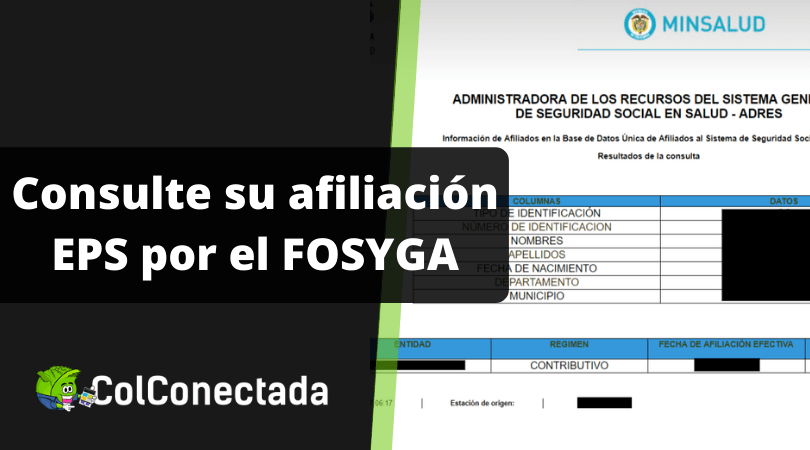 Consulta de afiliados a salud en Fosyga (ADRES) 3