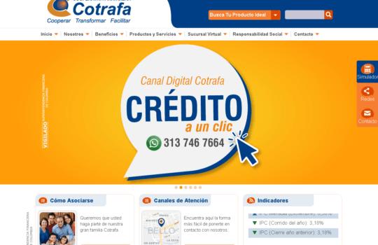 Cotrafa: Créditos, ahorro y servicios en línea 1