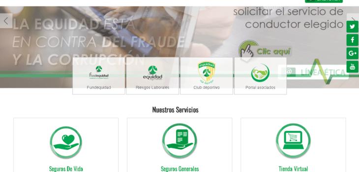 Equidad Seguros: Servicios en línea y teléfonos 8