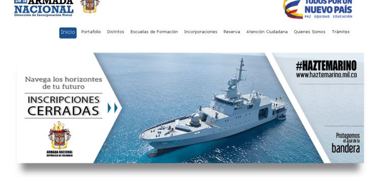 Armada de Colombia: Proceso de inscripción 4