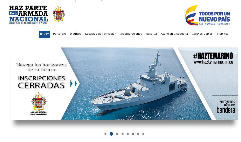 Armada de Colombia: Proceso de inscripción 11