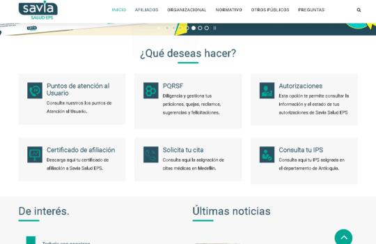 Savia Salud: Citas médicas y certificados por Internet 2