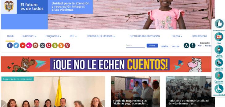 Unidad para las Víctimas: Trámites que puede hacer en línea 10