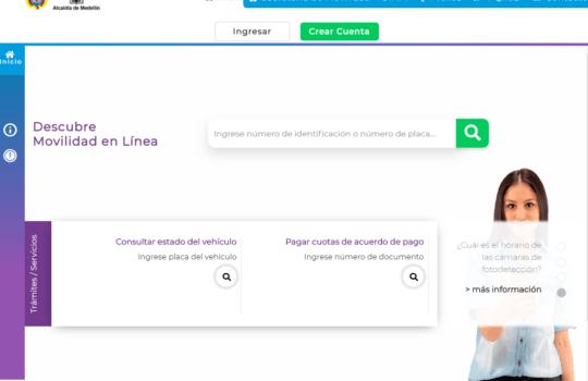 Movilidad en Línea: Portal de trámites para tránsito en Medellín 1