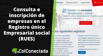 RUES: Consultar si una empresa está inscrita en Colombia