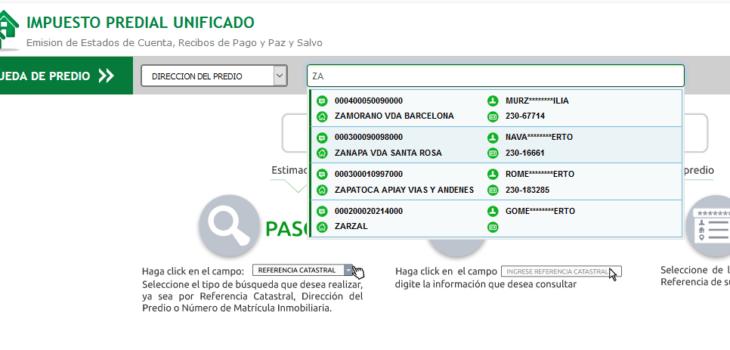 Consulta del impuesto predial en Villavicencio 5