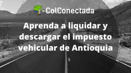 Impuesto vehículos en Antioquia