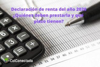Declaración de renta del año 2020
