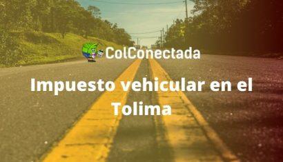 Impuesto de vehículos Tolima por Internet 2021