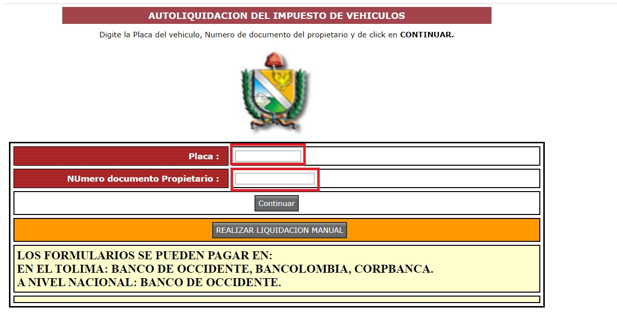 Impuesto vehicular Tolima