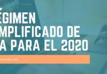 Régimen simplificado de IVA para el 2020