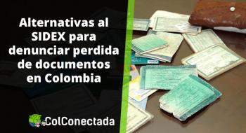 Denuncia de documentos perdidos: Alternativas a SIDEX