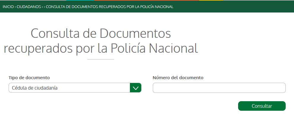 Vista previa del formulario de consulta