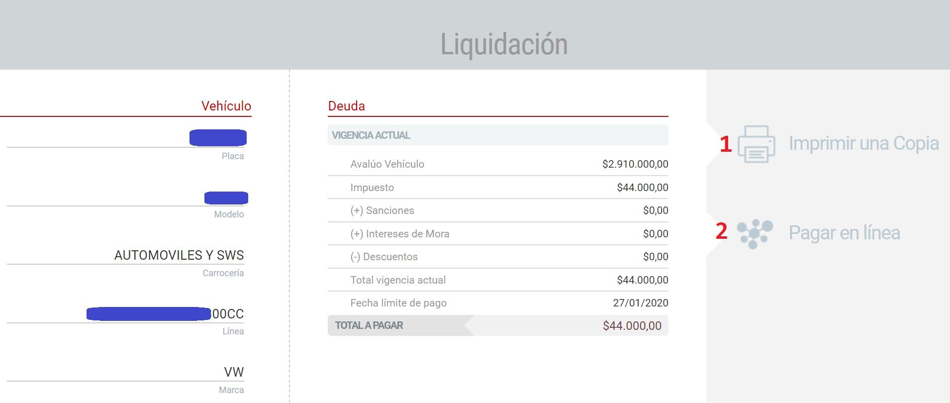 Impuesto vehículos en Barranquilla