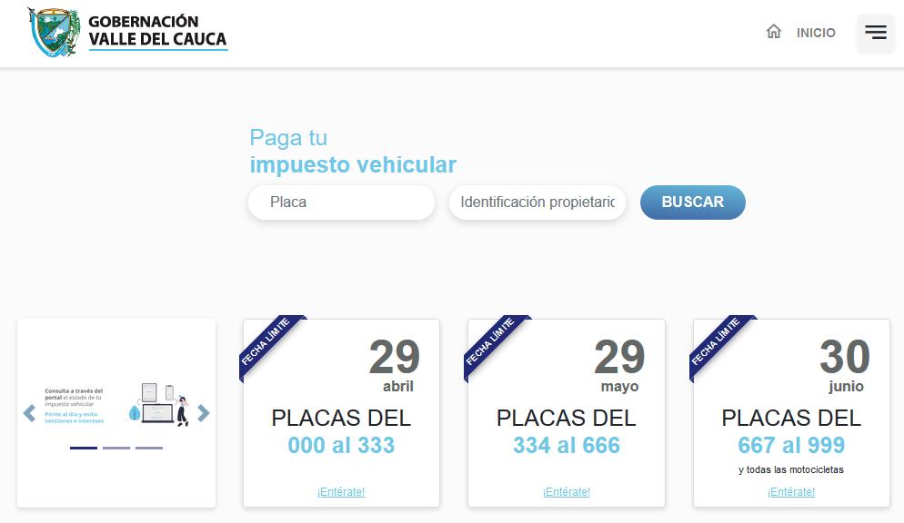 Impuesto vehículos Cali - Valle del Cauca para el 2020 1