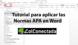 Cómo aplicar las Normas APA en Word