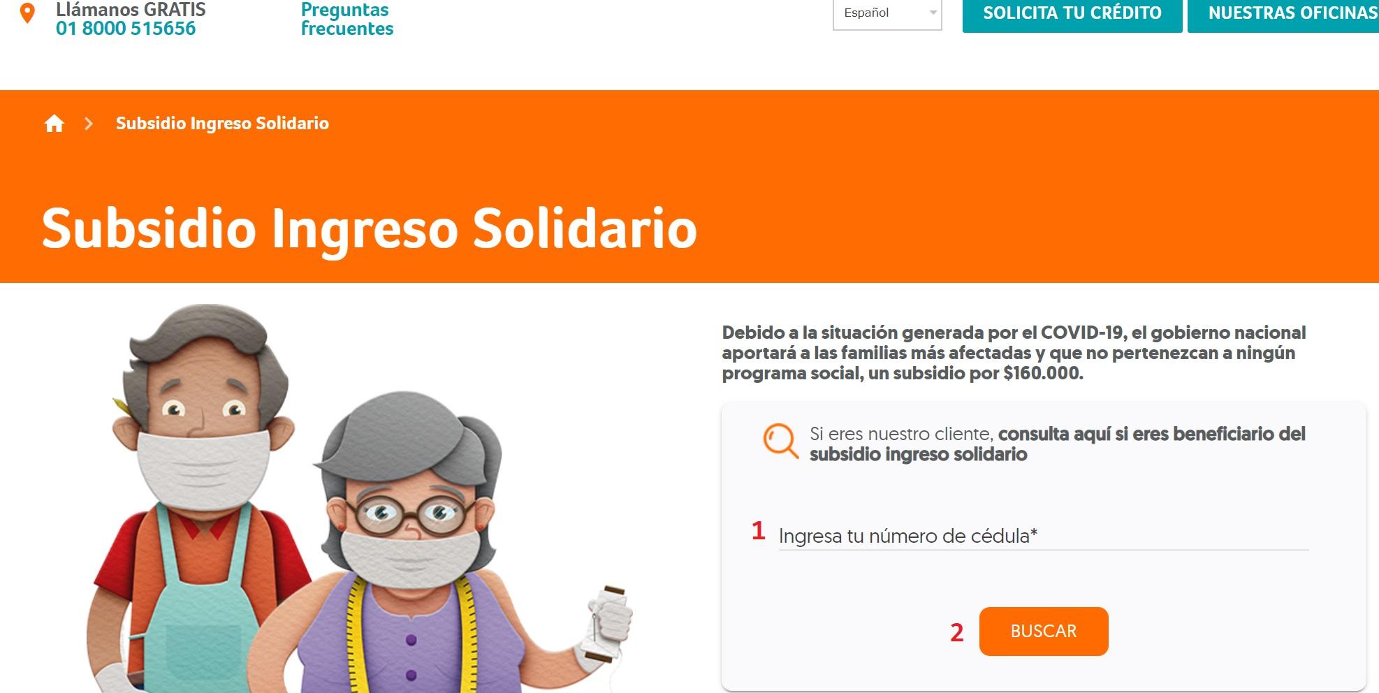 ingreso solidario banco w