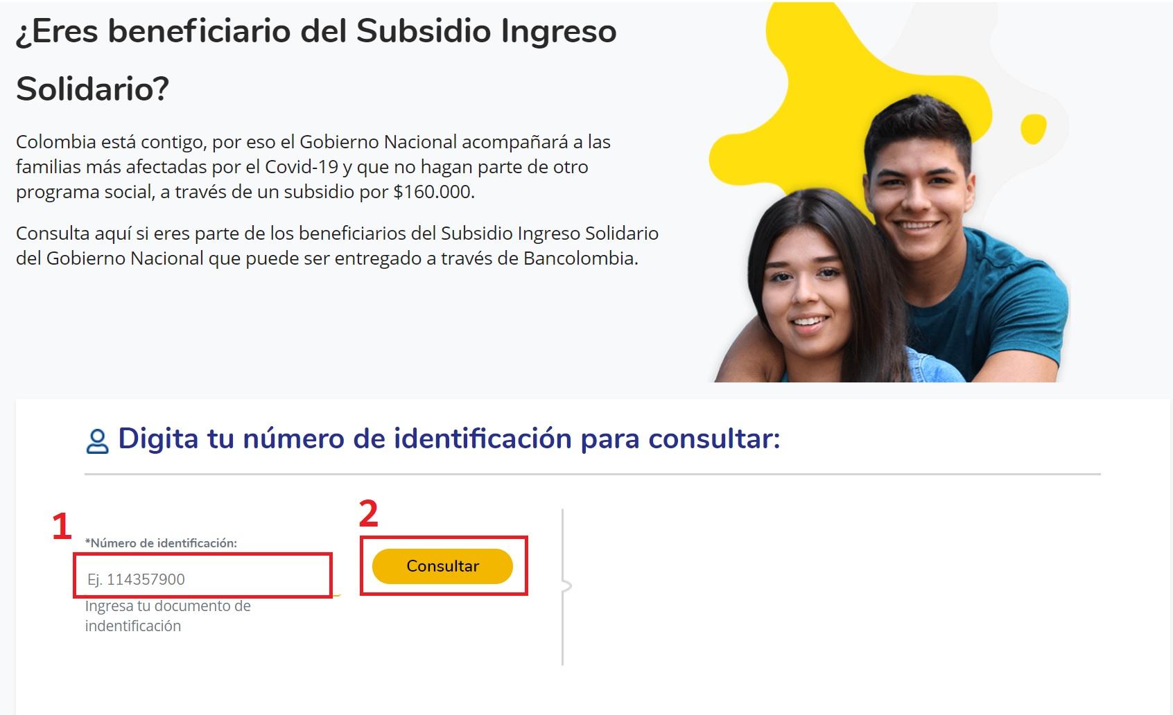 ingreso solidario bancolombia